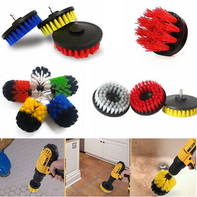 2/4/5'' Drill Brush Heavy Duty Tile Grout Power Attachment Tub Outdoor Cleaning