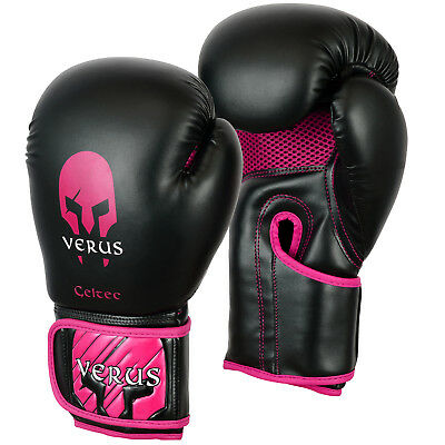 Pink Boxing Gloves martial arts 8oz Ladies Rex leather kickboxing women's MMA