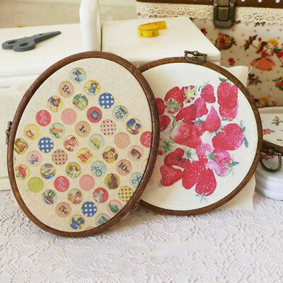 "From 4 ""to 10"" wooden embroidery cross stitch hoop frame"