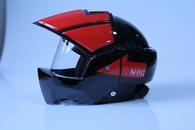 Masei 911 Black Red Robotech Macross Motorcycle Bike Chopper Open Face Helmet