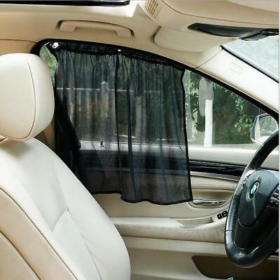 2PCS Adjustable Car SUV Window Anti-UV Sun Shade Drape Visor Curtain Universal