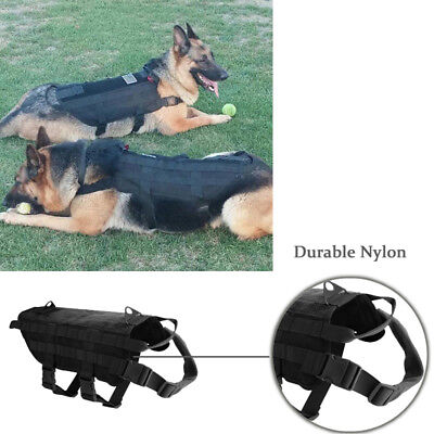 Comfortable Tactical Dog Training Military Vest Canine Molle Harness S M L XL