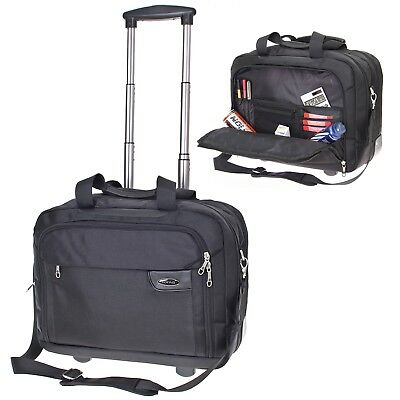 Luxus Aktentrolley Herren Akten Tasche Mappe Businesstasche Bag CityTrolley