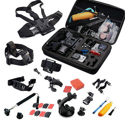 30 In 1 Head Chest Mount Floating Monopod Accessories For Gopro 2 3 4 Camera Wx