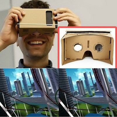 Ulter Clear DIY Cardboard 3D VR Virtual Reality Glasses For Smartphone DH