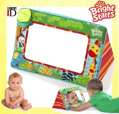 Bright Starts Sit and See Large Baby Safari Cot Car Play Floor Toy Mirror Baby