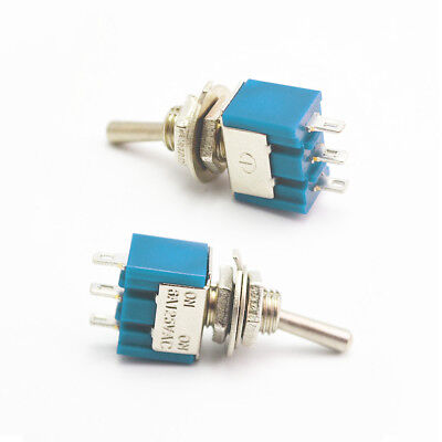 10Pcs Mini 3 Pin 2 Position On-on Toggle Switches Practic 6A 125VAC SPDT MTS-102