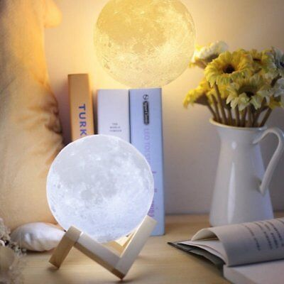 3D LED Magical Moon Night Light Moonlight Table Lamp Home Decor Kid Gifts Lot