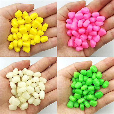50/100Pc Pop up Softs Corn Floating Baits Coarse Carp Fishing Lures Tool 4 Color
