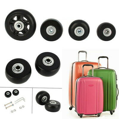 5c4fb5903486 2 SET LUGGAGE Suitcase Replacement Wheels Axles Deluxe Repair OD ...