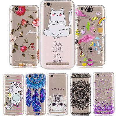 Ultra Thin Slim Cute Animal Flower Patterned Clear Soft Case Cover For Xiaomi 5X