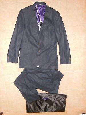 Paul Smith PS LINEN mens suit  jacket Sz -48 (M)+ Pants SZ-32 Made in Italy NAVY