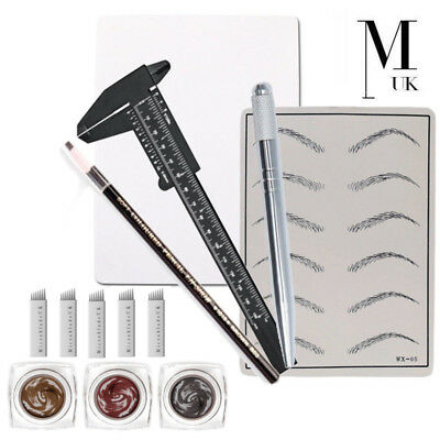 MICROBLADING Training Kit Pigment Practice Skin Microblades - Brows On Fleek