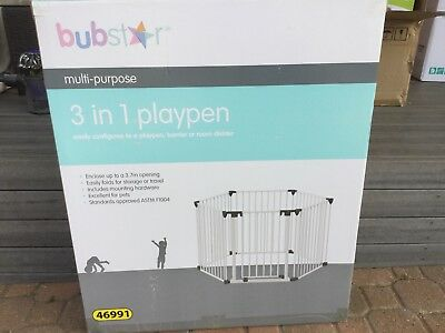 Multipurpose 3 in 1 Play Pen With Gate. Bubstar Brand With 3.7 Metre Span
