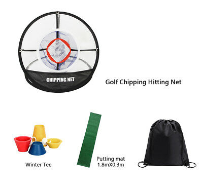 Posma CN010F Tragbare Golf Chipping Bundle Kit 1.8X0.3m Putting Matte Winter-Tee