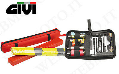 KIT GIVI guasti in moto con Safety Kit S300 e ripara gomme tubeless S450