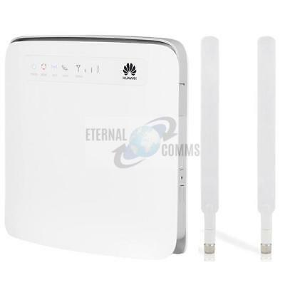 UNLOCKED HUAWEI E5186s-22a CAT6 300Mbps LTE WIFI ROUTER VOIP 4 LAN PORTS, 2 RJ11