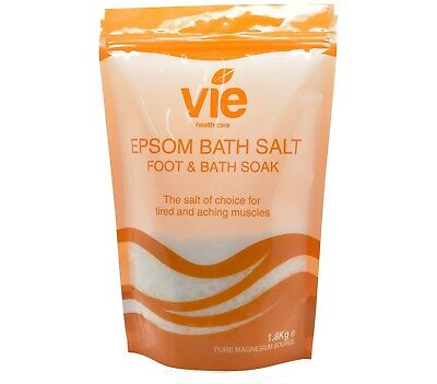 Vie Epsom Foot & Bath Salts 1.8Kg Resealable Pouch