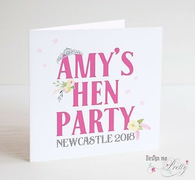 Personalised Hen Party Card Night Bride To Be Do