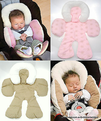JJ Cole Reversible Body Support  Car Seat  Pram Liner Head Neck Support