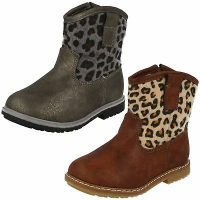 Infant Girls Spot On Zipped Cowboy Style Printed Boots