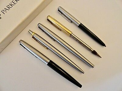 Vintage Parker Pens (3) & Pencils (2) - Some For Parts Only