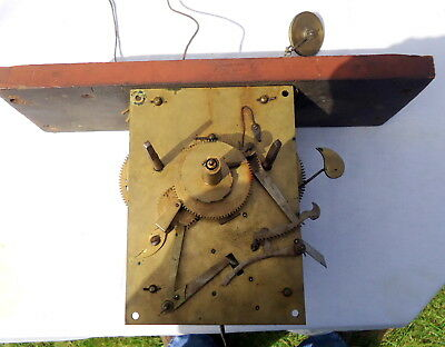 "Antique ""LONGCASE"" German Clock Movement. for Restoration or Spares, c1888"