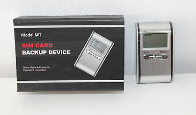 Sim Card Sim Karten Backup Device Password Protection Model 604 Kartenleser