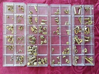 Traveling Clock Spairs 4 Boxes Brass Keys,setters , Screws