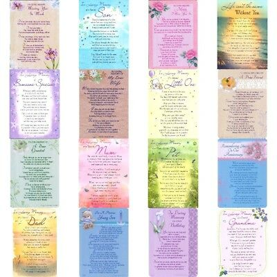 OVER 70 GRAVE CARDS Designs For Everyone Memorial Graveside Loving Memory Verse