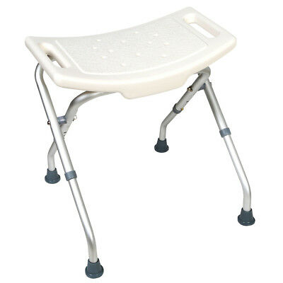 Extra Wide Adjustable Folding Bath Seat - Folding Aluminum Legs - Bathing Aid