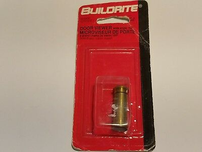 Buildrite 55-5400 Door Viewer With Angle 160° Solid Brass Nib