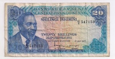 Kenya 20 Shillings Jul 01 1977 FINE P13d