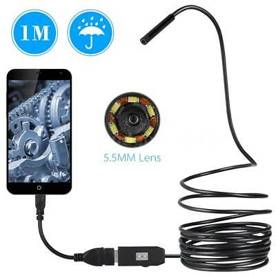 OWSOO 6 LED 5.5MM Objektiv Endoskop IP67 wasserdichte Kontrollen Borescope M7K3