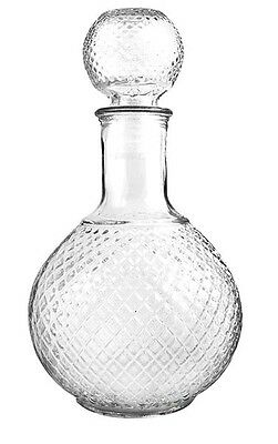Glass Whisky Decanter 750 ml Brandy Liqueur Sherry Scotch Carafe Bottle Vodka