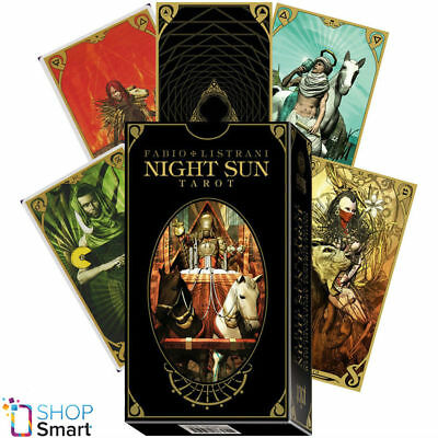 Night Sun Tarot Deck Cards Esoteric Fortune Telling Lo Scarabeo New