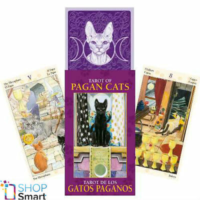 Pagan Cats Mini Tarot Cards Deck Esoteric Fortune Telling Lo Scarabeo New