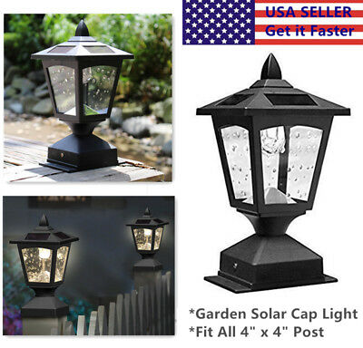 Outdoor Garden Solar LED Post Cap Light Deck Fence Light Landscape Lamp Fits 4X4