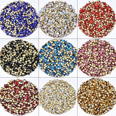 144pcs SS22-SS38 Glass Crystal Rhinestones Beads Pointed Back Pick Color & Size