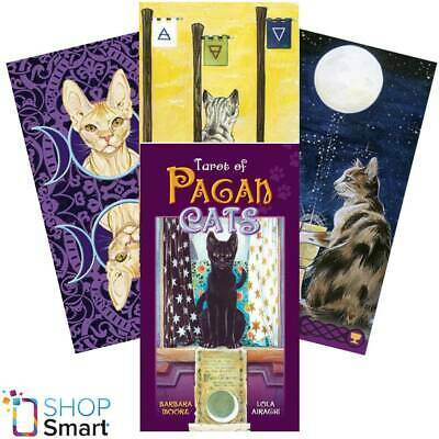 Tarot Of Pagan Cats Deck Cards Airaghi Multilingual Esoteric Fortune Telling New