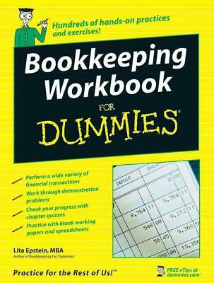 Bookkeeping Workbook for Dummies by Lita Epstein (English) Paperback Book Free S