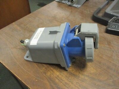Hubbell Receptacle w/ Base 460R9W 60A 250V 3Ph Used