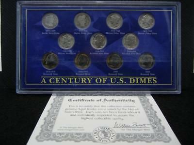 1900-2000 Century of US Dime. Rare Vanishing Silver coins. High Grades!... Lot 7