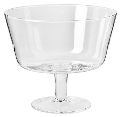 Glass Footed Trifle Bowl 24 cm Salad Fruit Serving Dish Round Large Party Sweets
