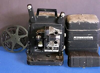 Vintage Movie Projector Bell & Howell Model 256 8mm Auto Load w/ Case,Used Works