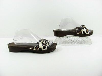 844c9afae938f Dr Scholls Women Beige Black Orange Slides Sandal Shoe Size 10M EUR 42 Pre  Owned