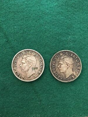 Half Crowns Great Britain Silver Coins