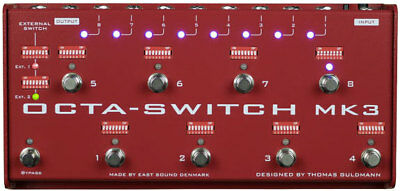 Carl Martin Octa-Switch MK3 Multi-Effects Looper Pedal insured and fast shipping