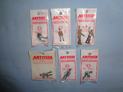 6 Arttista Pewter O Scale Figures: #1500, 1371, 1289, 1199, 1539