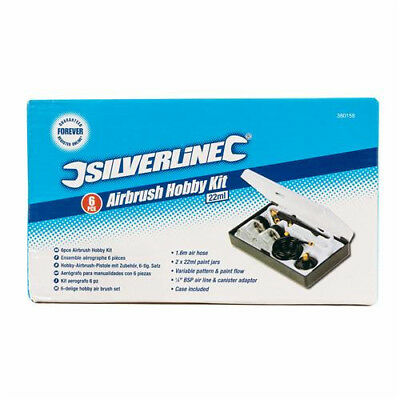 Silverline Hobby Airbrush Kit 6-Piece Set complete and unused.